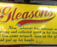 New York… Gleason's… My home… Eddie wish you were here!