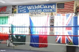 Inside of Boxing club gym